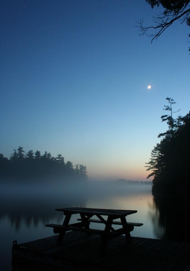 Misty Island View at Dusk8x11